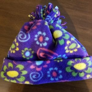Other - Groovy Purple Poof Cuff Beanie